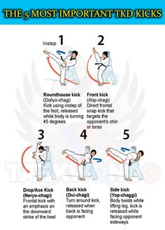 THE 5 MOST IMPORTANT TAEKWONDO KICKS