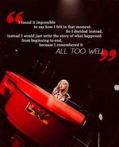 Taylor Swift Red Tour All too well