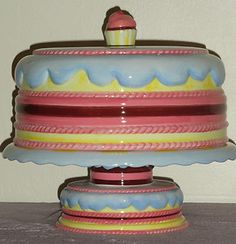 Gorham covered ceramic cake stand, eBay