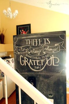 New Chalkboard Quote--love the decoration!