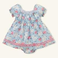 Layette Floral Dress  $49.50
