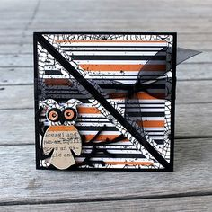 Halloween tri-fold card using the Apothecary Emporium Collection from Echo Park Paper Halloween Paper Crafts, Cute Halloween, Halloween Cards, Holidays Halloween, Halloween Ideas, Holiday Crafts, Tri Fold Cards, Fancy Fold Cards, Folded Cards