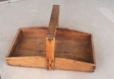 vintage strawberry trug vintage wooden by othersideofyesterday