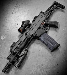 from - Bigger pic of the modern scout rifle project. Airsoft Guns, Weapons Guns, Guns And Ammo, Tactical Rifles, Firearms, Shotguns, Armas Wallpaper, Armas Ninja, Battle Rifle