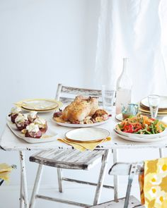 fresh & bright meals for warm evenings around the table ~ photo from Anthology Mag