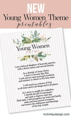"""2020 Young Women theme """"Go & Do"""" printables for evening of Excellence : New young women theme LDS Young Women Lessons, Young Women Activities, Young Women Values, Young Women Theme Printable, Lds News, Lds Youth, Personal Progress, Activity Days, Relief Society"""