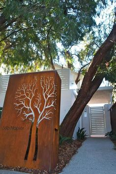 A modern house number sign increases home appeal and adds a beautiful accent to a home exterior