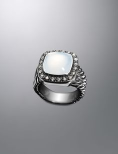 11mm Moon Quartz Moonlight Ice Ring