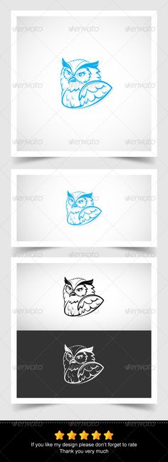 Owl Head - Animals Characters Owl Head, Owl Logo, Tatoos, My Design, Fonts, Characters, Animals, Animales, Animaux