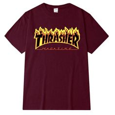 2017 New thrasher T Shirt Men Women Skateboards tee Short Sleeve Skate T shirts Tops Hip Hop T shirt Homme Man Trasher T shirts