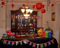 """Photo 12 of Lego Ninjago, Ninja / Birthday """"Ninjago Legos/ Ninja Chinese Party"""" Ninja Birthday Parties, Birthday Party Themes, 8th Birthday, Lego Parties, Happy Birthday, Ninjago Party, Lego Ninjago, Creative Birthday Ideas, Chinese Party"""
