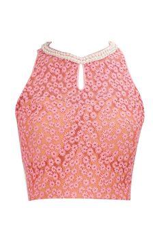 Halter neck blouse .. get it at myTailor. in