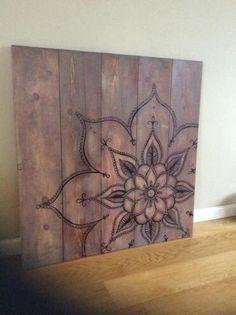 Een persoonlijke favoriet uit mijn Etsy shop https://www.etsy.com/nl/listing/240824973/mandala-artwork-on-rustic-wood-original