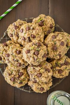 Zucchini-Oat+Chocolate+Chip+Cookies