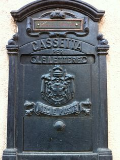 an old letter box, milan