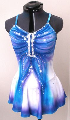 Custom Figure Skating Dress by glittRSkatewear on Etsy, $245.99