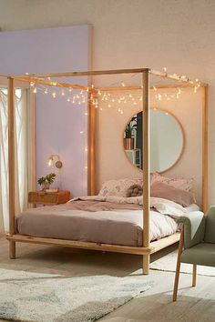 5 Positive Tips: Canopy Over Bed Shelves wooden canopy interior design.Canopy Lights House canopy over bed shelves.Canopy Over Bed Kids. Wooden Canopy Bed, Canopy Bed Frame, Canopy Bedroom, Home Decor Bedroom, Bedroom Furniture, Modern Bedroom, Bedroom Ideas, Canopy Beds, Master Bedroom