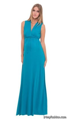 80bee5d865f34 Olian Turquoise Maxi Maternity Dress - SALE Fabulous new addition to Olian  Maternity's new 2014 line. Gorgeous adjustable tie back Grecian maxi dress  ...