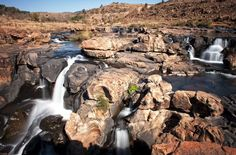 Bourke's Luck Potholes by  KiKa   / The Bourke's Luck Potholes are a rock unit on the Panorama Route in Mpumalanga Province in the east of South Africa, near Graskop on the R532.