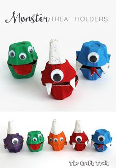 Create some adorable monster treat holders