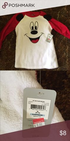 Cute Mickey Mouse Long Sleeve Pajama Top Brand new not worn. Cute to wear if you're a Disney fan. Mickey is fur material  ✅Bundle discount, reasonable offers, trades on items below $10, short term holds, and free gift with purchase. Feel free to ask questions before you purchase! low ball offers, rude people , or long term holds Disney Intimates & Sleepwear Pajamas