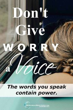 """Do you ever say words like, """"I'm afraid that…?"""" Worry, fear and anxiety are ways the enemy of our soul destroys our peace. Our words have power. How do you speak life over yourself, your situations and your loved ones instead? #HopePrevails #depression #mentalhealth #anxiety"""