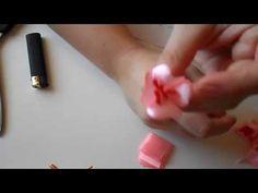 Цветок Сакуры Канзаши . Как сделать лепесток для Сакуры Канзаши - YouTube