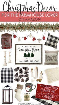 Farmhouse Christmas – Buffalo C… – Christmas Ideas White Christmas, Fresh Cut Christmas Trees, Country Christmas, Christmas Colors, Christmas Home, Christmas Holidays, Christmas Wreaths, Christmas Ornaments, Christmas Ideas