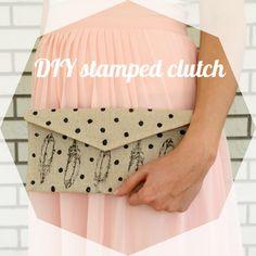 DIY stamped clutch