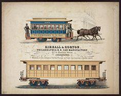 Kimball & Gorton Philadelphia R.R. Car Manufactory, 21st & Hamilton Streets Philadelphia advertising lithograph print