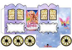 Barbie: Caja con forma de Carruaje para Imprimir Gratis. | Ideas y material gratis para fiestas y celebraciones Oh My Fiesta!