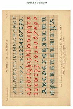 Alphabet de la Brodeuse [The Embroiderer's Alphabet] - Weaving Digital Archive Item - Handweaving.net Hand Weaving and Draft Archive