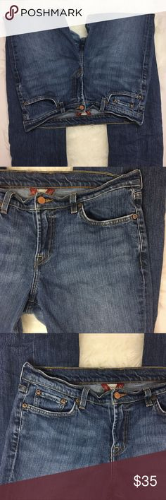 Lucky brand jeans denim women size 14 straight leg Gently used,please see pictures Lucky Brand Jeans Straight Leg