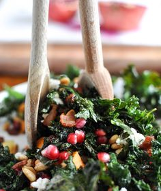 Costco's Sweet Kale and Veggie salad!  Everyday I've been eating this!  I add Pomegranate Avrils, Fresh Raspberries, and Sunflower Seeds.  I don't use their dressing that comes with it. I add Ken's Lite Raspberry Walnut Viniagrette.