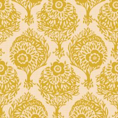Anna Maria Horner - Innocent Crush Home Dec - Woodcut in Saffron $13.75 Hawthorne Threads