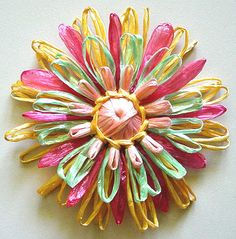 Flower Looms: How to Make Flat Ribbon Straw Leaves and Petals to Add Dimension to Your Loomed Flowers