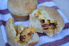 Stuffed Breakfast Biscuit Muffins from We Got Real 35 min