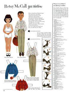 Bonecas de Papel: Betsy McCall - 1955