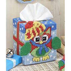 Craftways® Ho-Ho-Howling Tissue Box Cover Plastic Canvas Kit Was: $16.00                     Now: $9.99