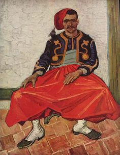 The  Seated Zouave, Vincent van Gogh. Oil on canvas, 81.0 x 65.0 cm. Arles, June 1888. Private Collection, Argentina, South America.