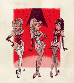 The 3 SchoolBOYS had been trained in posing dressing making-up doing their (now VERY) long girly hair and talking like girls for 6 weeks. In factthey all LOVED being forced into the matter of Feminity! Cartoon Kunst, Comic Kunst, Cartoon Art, Pin Up Drawings, Dark Drawings, Retro Kunst, Retro Art, Pelo Pin Up, Vintage Comics