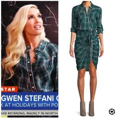Jenna Bush Hager, Hoda Kotb, Gwen Stefani, Today Show, Plaid Dress, Green, Outfits, Dresses, Style