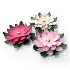 How to make paper flowers  water lilies for your by ketzl on Etsy. , via Etsy.