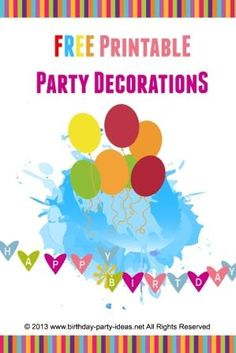 Free printable for party decorations at birthday-party-ideas.net