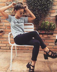 sandália tratorada preta; como usar; looks