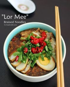 """Icooked """"Lor Mee"""" (Singapore-style) this weekend and updated myearlierpostwith new photos.   Lor mee simply refers to braised noodle..."""