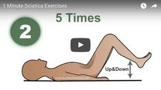 Do you have back pain? Back pain can greatly complicate our daily tasks that we do. This video will show you how to exercise using relieve themselves and get rid of back pain for one minute a day. Sciatica Exercises, Daily Task, Back Pain, Rid