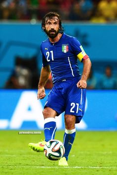 Andrea Pirlo during the 2014 FIFA World Cup Brazil Group D match between England and Italy at Arena Amazonia on June 14, 2014 in Manaus, Brazil.
