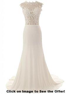 Buy ASA Mermaid Lace Wedding Dress Long White Evening Dress on sale Online - Short Wedding Gowns, Lace Beach Wedding Dress, 2015 Wedding Dresses, Tea Length Wedding Dress, Perfect Wedding Dress, Bridal Dresses, Prom Dresses, Lace Wedding, Cap Dress