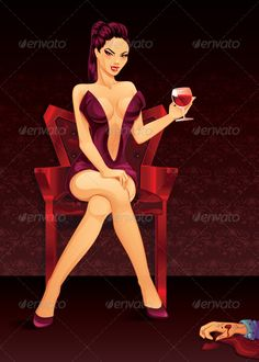 Vampire Lady   #GraphicRiver         Vampire Lady . Zip archive contains Vector Illustration Eps10 with layers and high resolution jpeg.     Created: 5October13 GraphicsFilesIncluded: JPGImage #VectorEPS Layered: Yes MinimumAdobeCSVersion: CS Tags: attractive #background #beautiful #biting #blood #chair #dress #drinking #evil #fangs #girl #glass #halloween #illustration #killer #man #murderer #mystery #pin-up #pinup #purple #red #sexy #sitting #smiling #temptation #vampire #vector #victim…